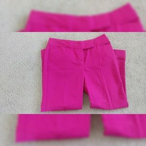 Hot Pink Ann Taylor Cropped Pants